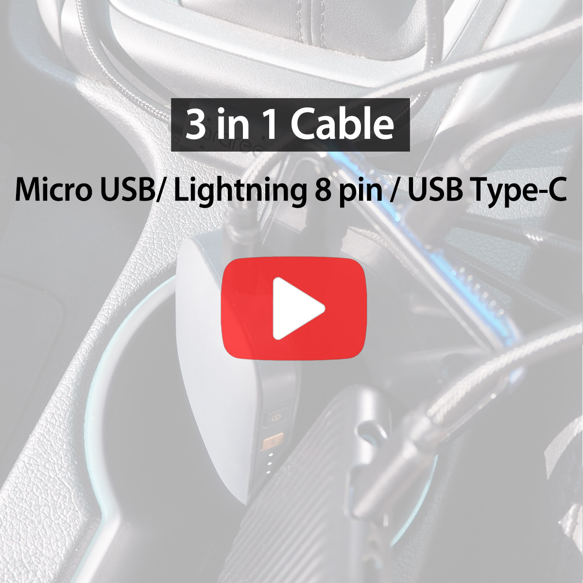 [araree]3 in 1 Multi Cable
